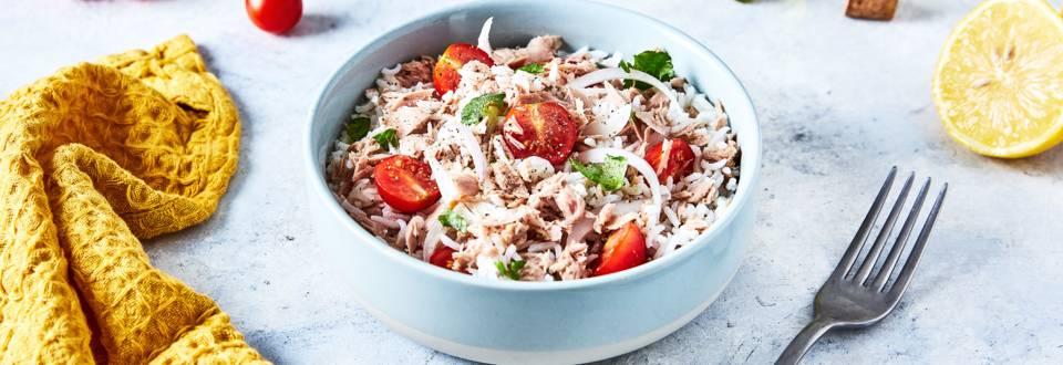 Salade de riz, thon et coriandre
