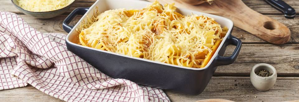 Gratin de pâtes et butternut