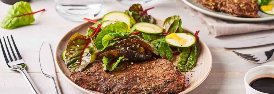 Steak au barbecue