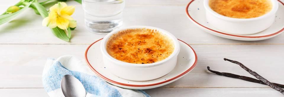 Crème brûlée au lait de soja