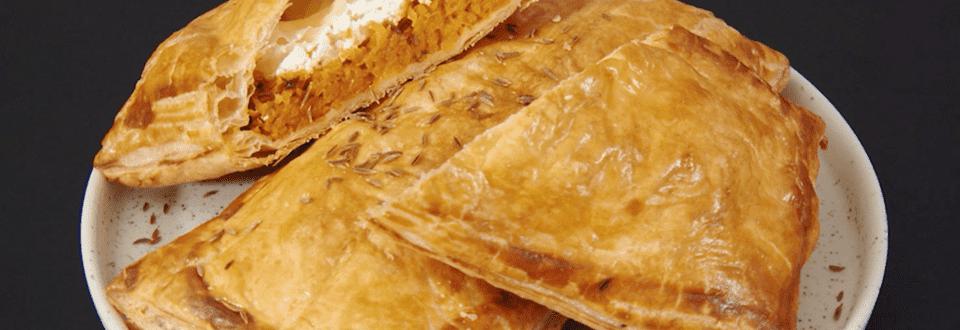 Feuillletés chèvre-miel et carottes