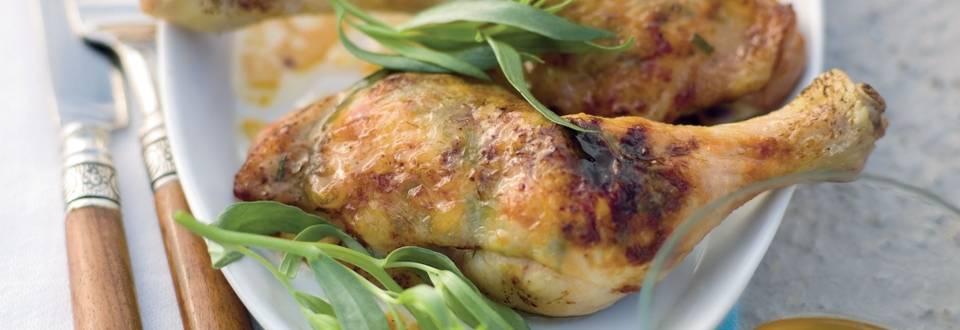 Cuisses de poulet farcies au beurre d'herbes et au miel