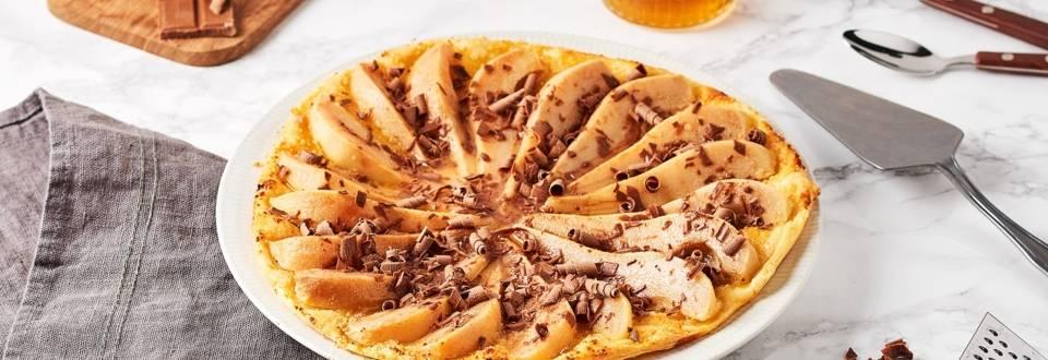 Tarte fine aux poires et copeaux de chocolat