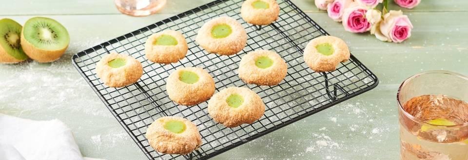 Sablés au citron vert et kiwi