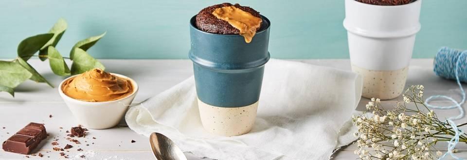 Mug Cake au chocolat et au beurre de cacahuète