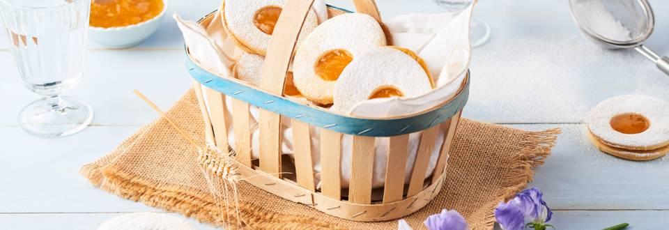 Sablés œufs, cœur à la mangue