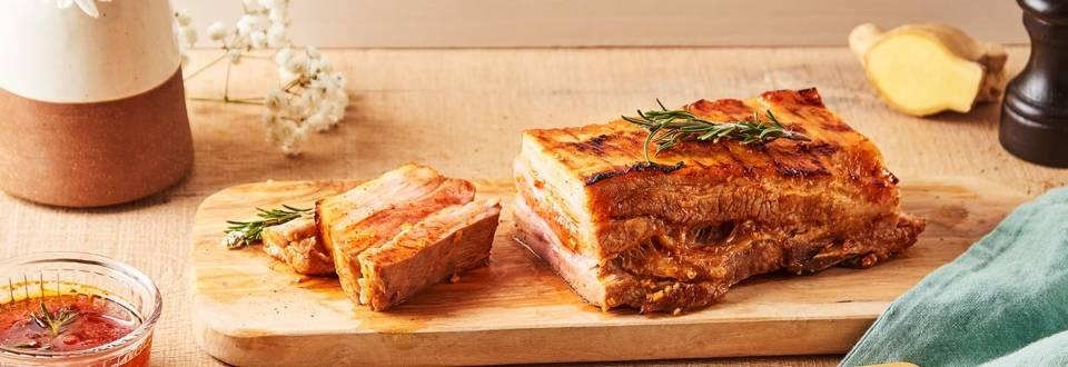 Poitrine de porc au barbecue