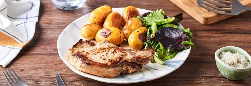 Côtelettes de porc grillées au gingembre