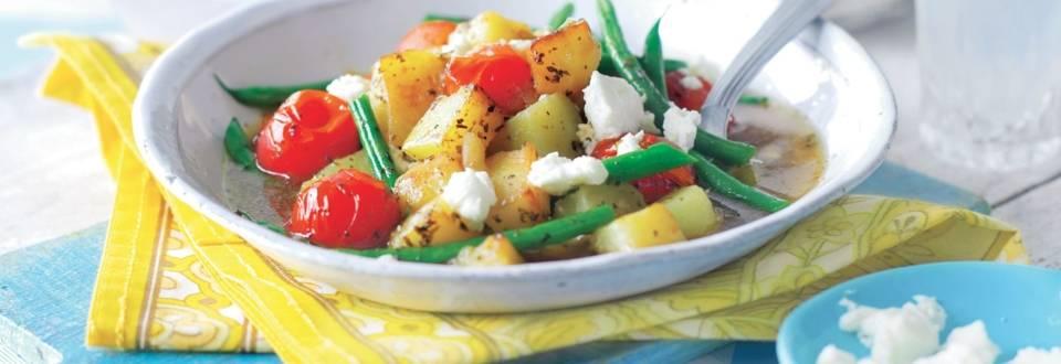 Poêlée méditerranéenne d'haricots verts et pommes de terre