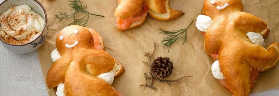 Mannele au saumon & chantilly