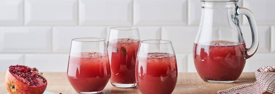 Mocktail à la grenade et au citron