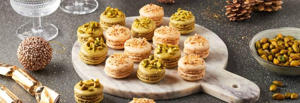 Macarons praliné et pistache