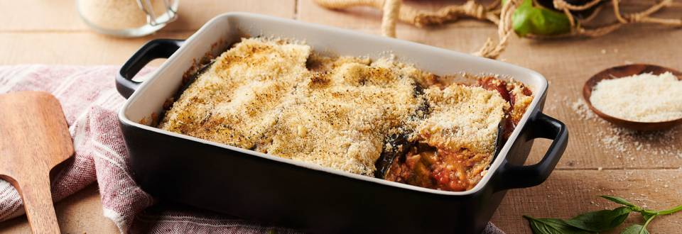 Parmigiana d'aubergines et tomates