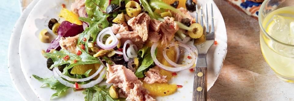 Salade de thon à l'orange et aux olives