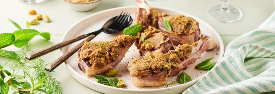 Côtelette d'agneau en croûte de pistaches