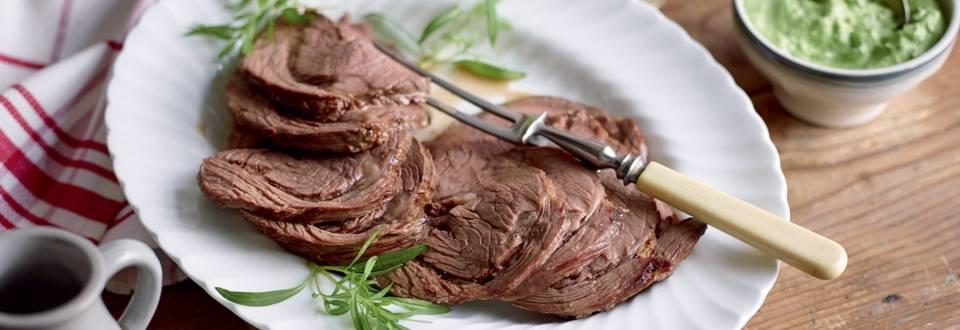 Bœuf à la viennoise, sauce aux herbes