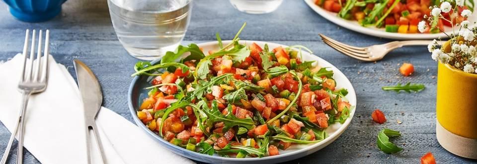 Tartare de tomates et poivrons