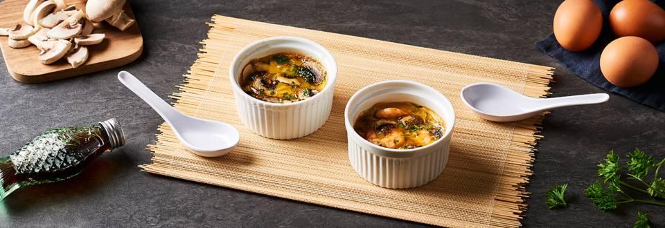 Flan japonais œufs-crevettes   Chawanmushi