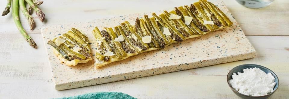 Tarte tatin aux asperges et parmesan