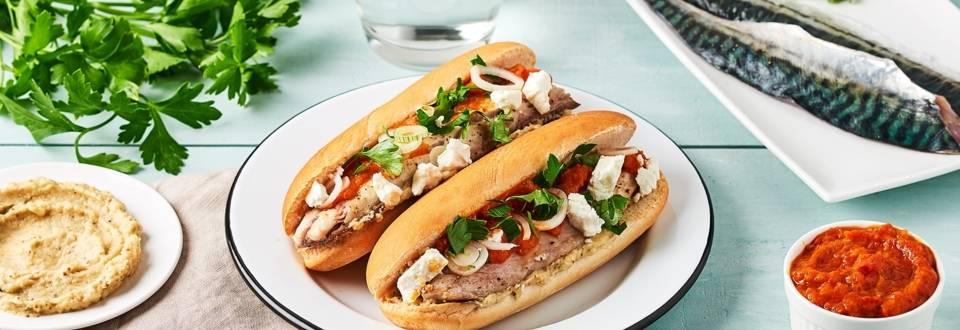 Hot-dog de maquereaux pimentés