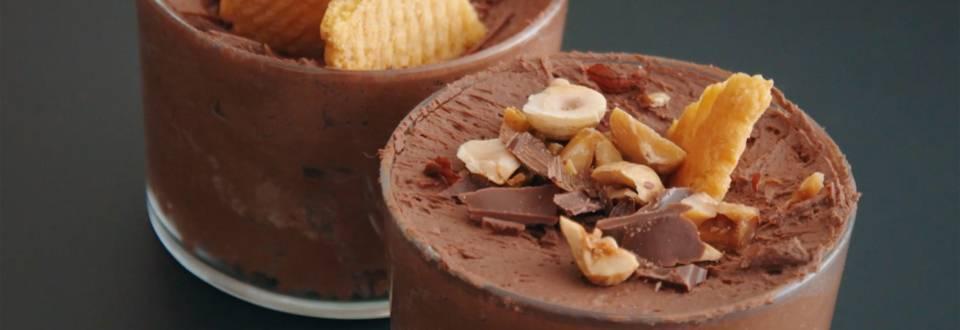 Mousse au chocolat cœur surprise