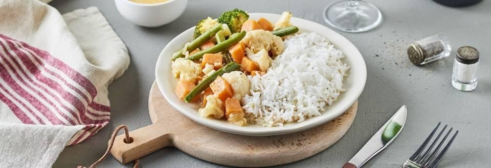 Curry rouge végétarien