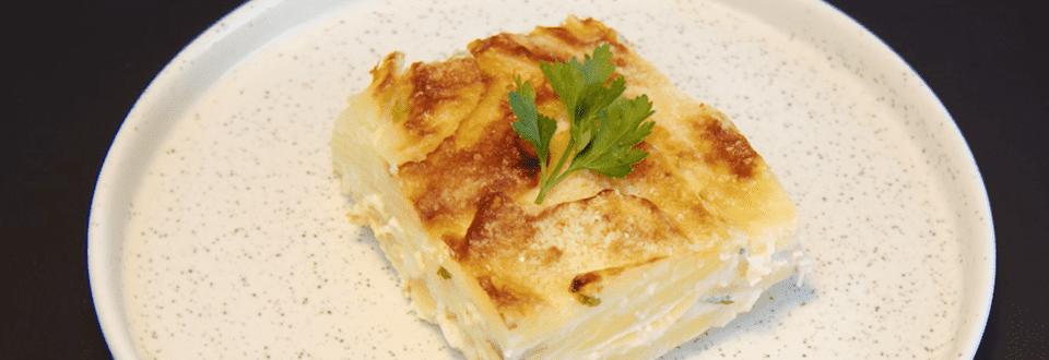 Gâteau de pommes de terre et fromage