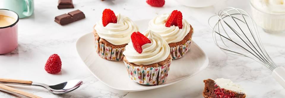 Cupcakes chocolat - framboises