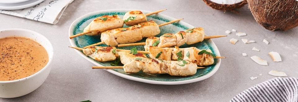 Brochette de poulet au satay