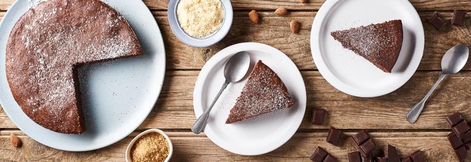 Gâteau italien au chocolat et aux amandes   Torta caprese