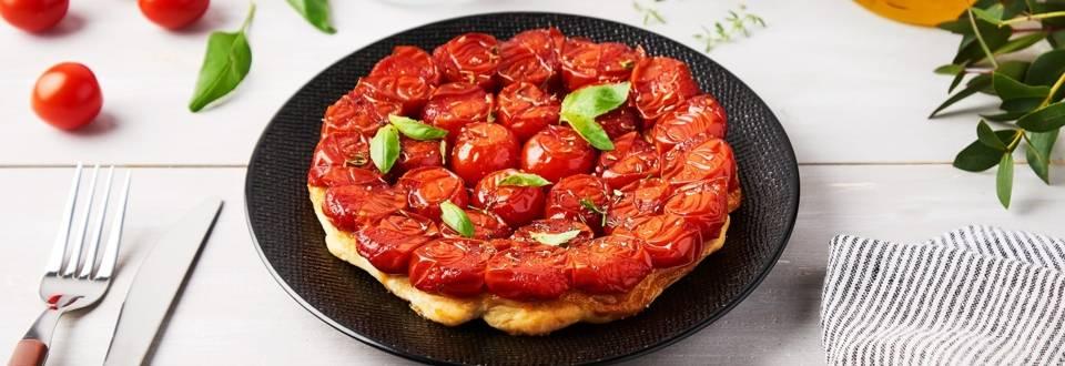 Tarte tatin tomates basilic