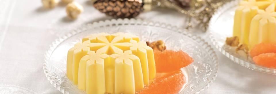 Parfait glacé au miel et pamplemousse