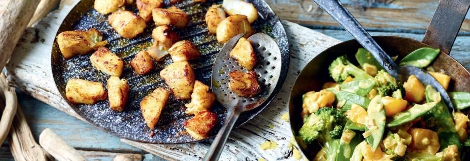 Curry de poisson aux brocolis et à la mangue