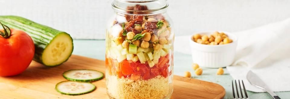 Salade in glass à l'oriental