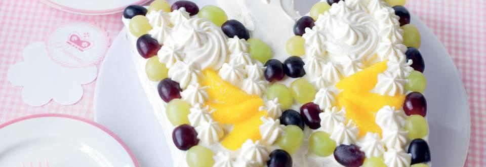 Gâteau papillon aux fruits