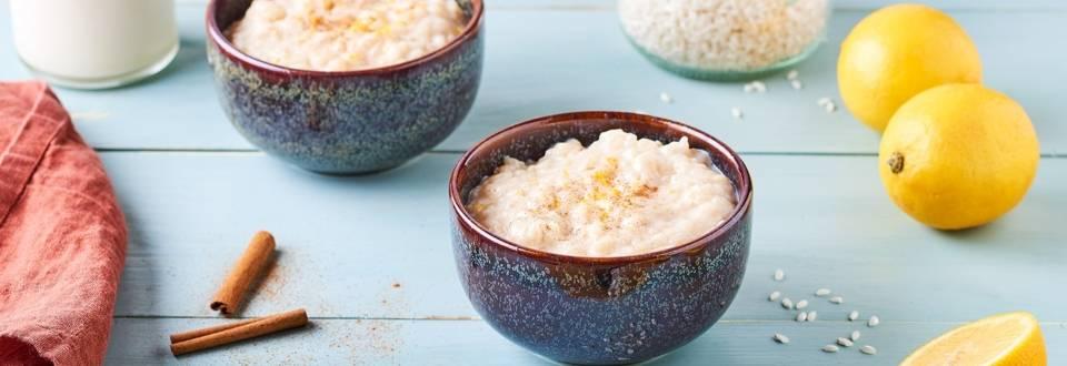Riz au lait portugais citron et cannelle