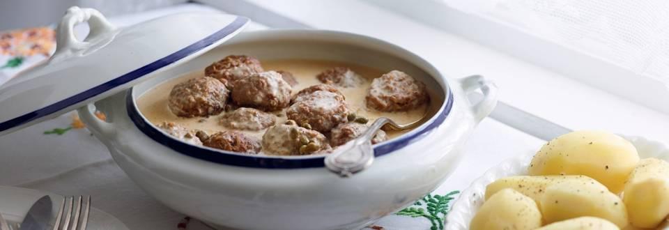 Boulettes de viande, sauce aux câpres