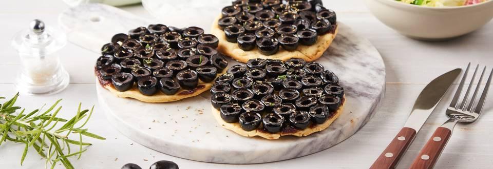 Tartelettes aux olives façon tatin