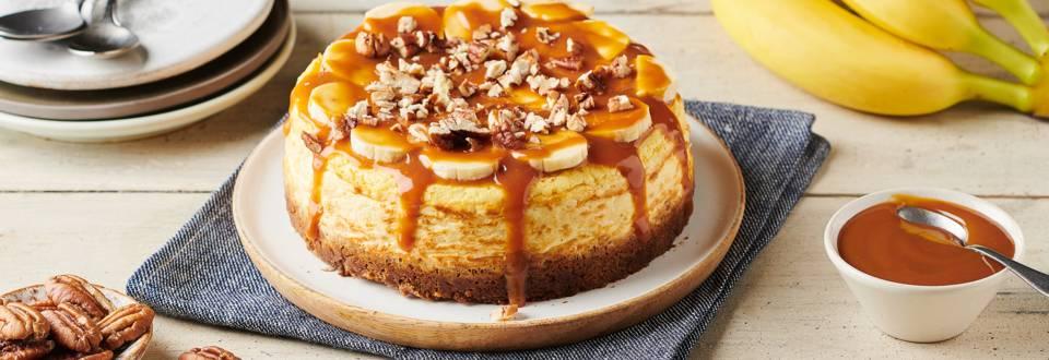 Cheesecake banane, pécan et caramel