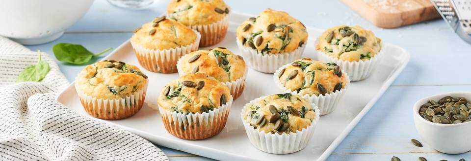 Muffins épinard et parmesan
