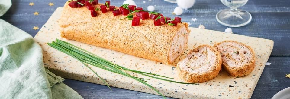 Bûche salée betterave et crème au thon
