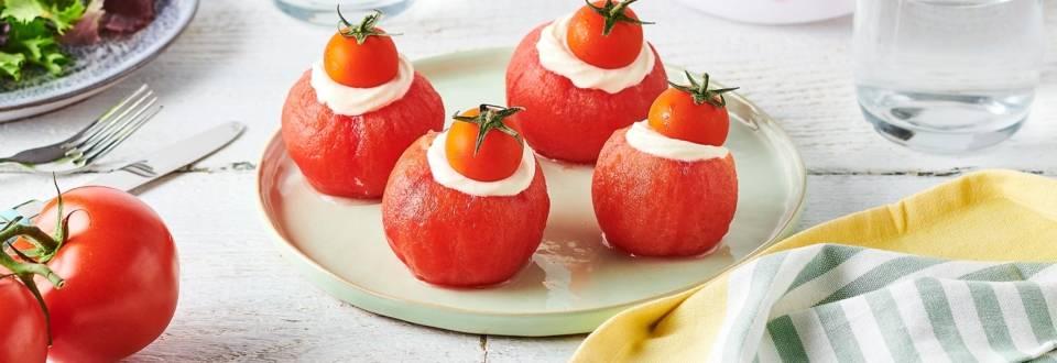 Religieuses tomate et crème de mozzarella