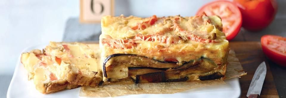 Cake aux légumes méditerranéens et pommes de terre