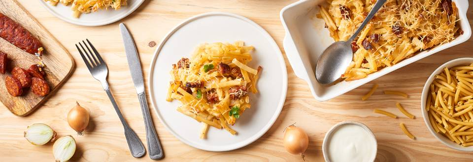 Mac and cheese au chorizo