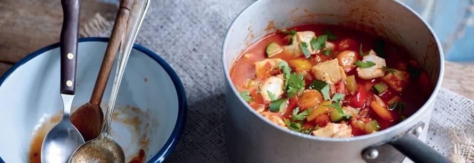 Soupe de poisson aux légumes