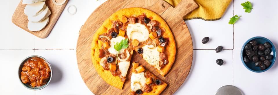 Pizza provençale vegan