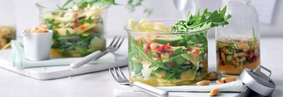 Salade d'avocats, ananas et cacahuètes