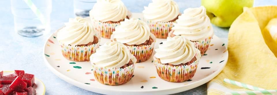 Cupcakes à la betterave et mousse de chèvre