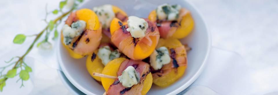 Abricots en papillotes de lard