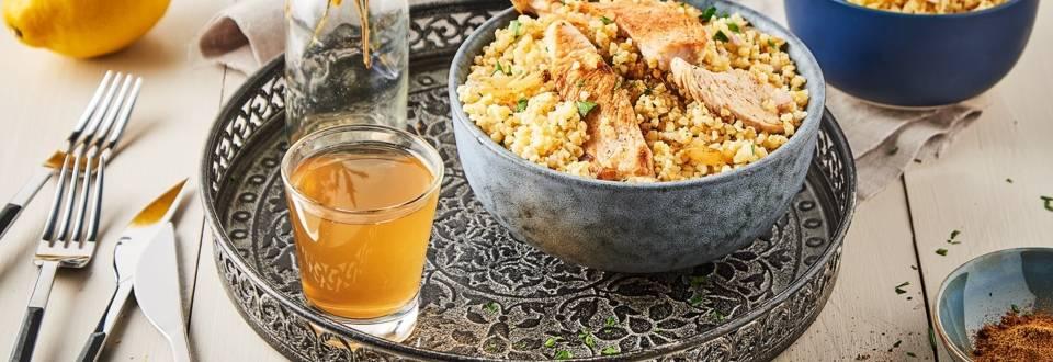 Salade de boulgour et poulet au cumin